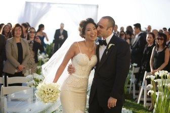 just married wedding at the ritz carlton laguna niguel ceremony