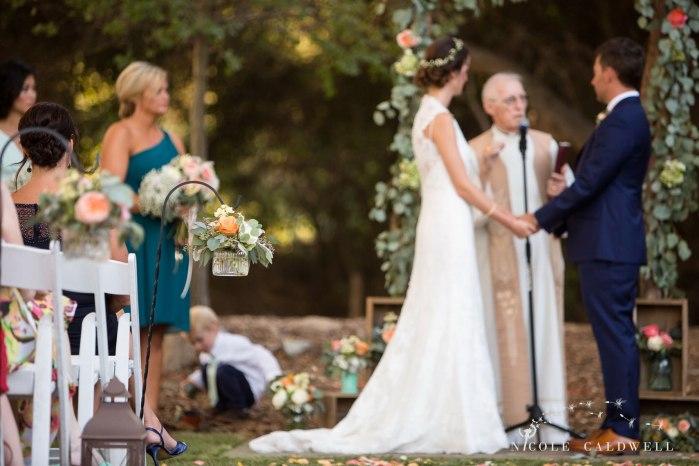 ceremony temecula creek inn wedding stone house