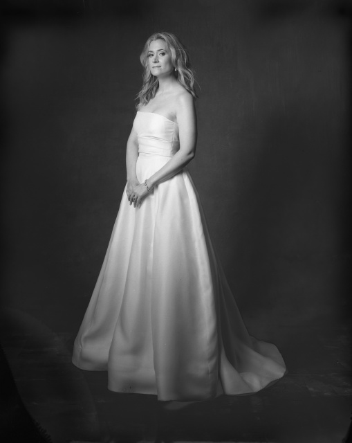 film photography orange county photo studio bride formal portrait