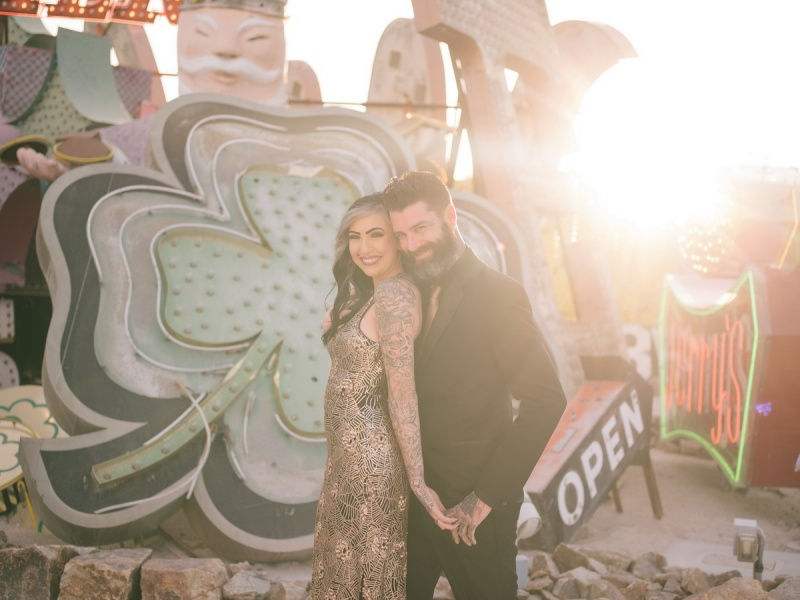 las vegas engagement shoot neon museum boneyard by nicole caldwell 04