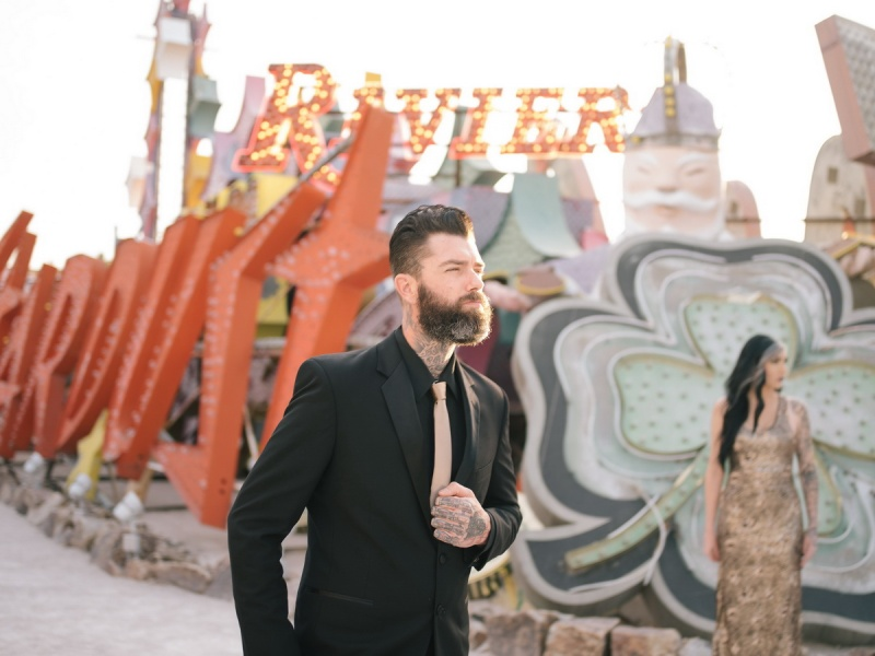 las vegas engagement shoot neon museum boneyard by nicole caldwell 05