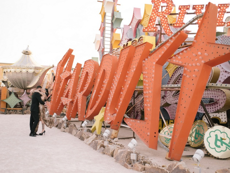 las vegas engagement shoot neon museum boneyard by nicole caldwell 07