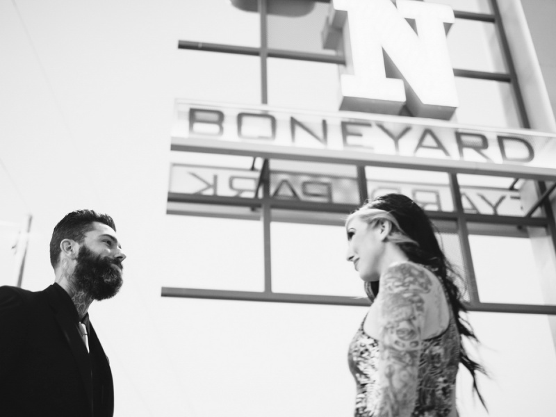 las vegas engagement shoot neon museum boneyard by nicole caldwell 14