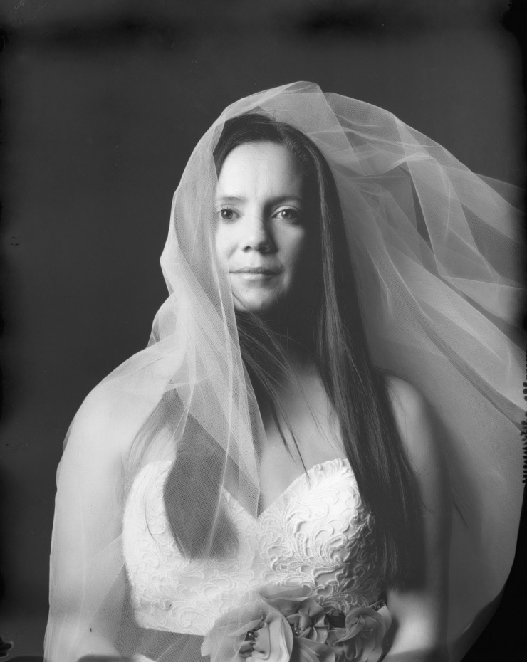 bride studio photography new 55 film
