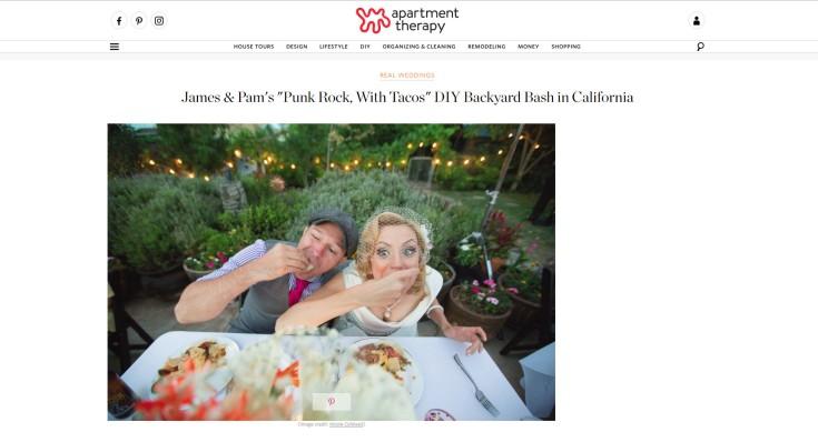 backyard wedding diy photos by nicole caldwell via apartment therapy