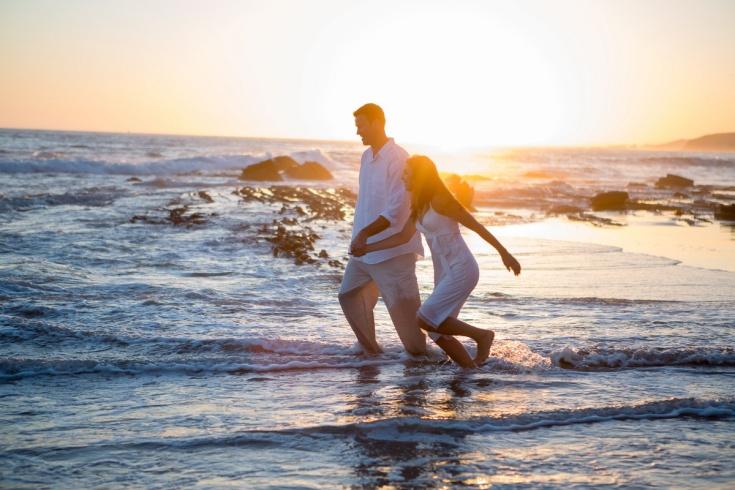 trash the dress 10 year anniversarty shoot laguna beach crystal cove state beach by nicole caldwell 02
