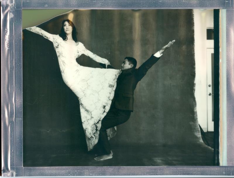 yoga couple wedding polaroid 8 x 10 impossible project photo by Nicole Caldwell 03