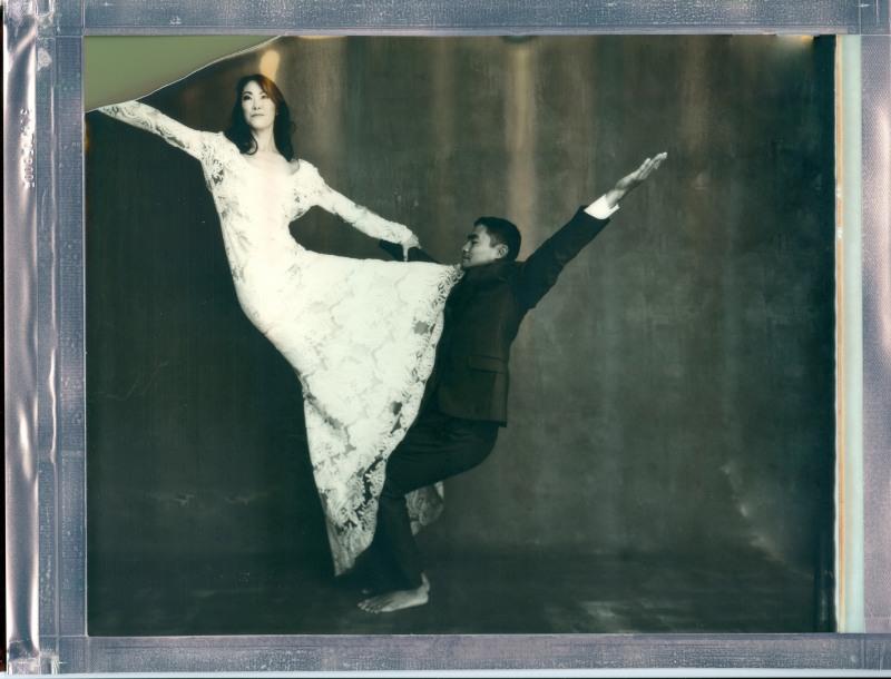 yoga couple wedding 8 x 10 polaroid impossible project