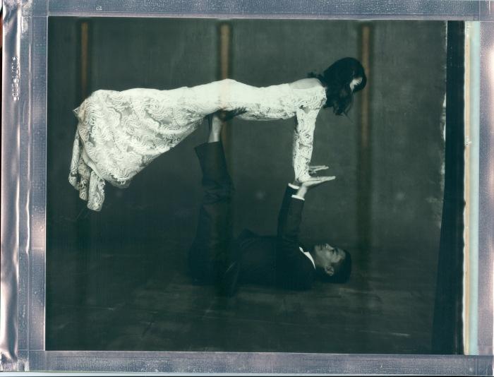yoga couple wedding polaroid 8 x 10 impossible project photo by Nicole Caldwell 05