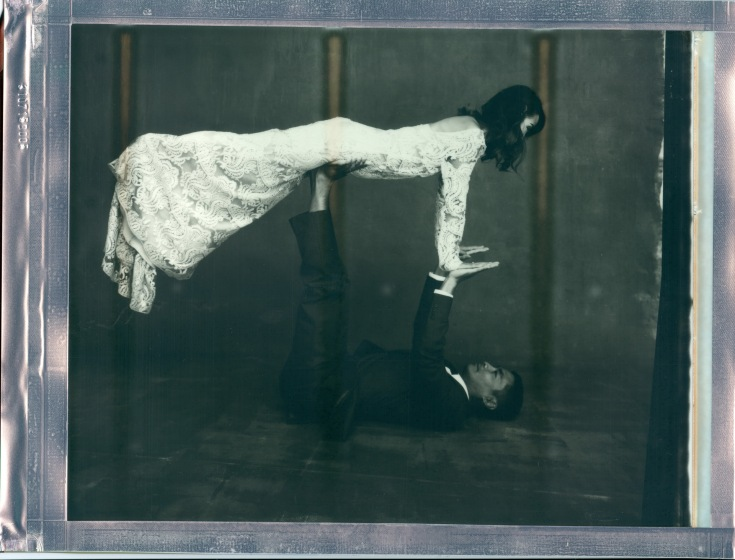 yoga couple wedding polaroid 8 x 10 impossible project photo by Nicole Caldwell 05