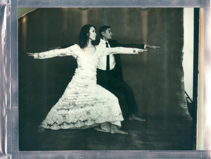 yoga couple wedding polaroid 8 x 10 impossible project photo by Nicole Caldwell 06