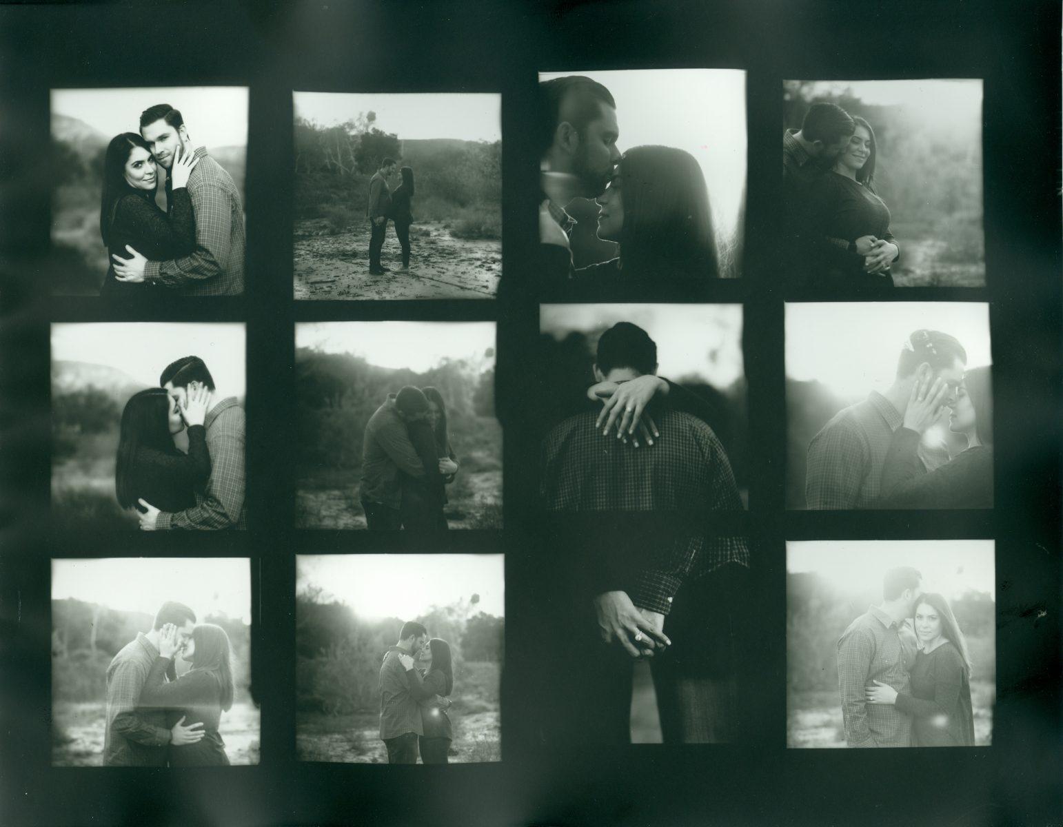 proof sheet film engagment photographer nicole caldwell