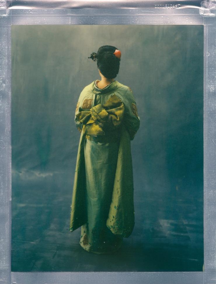 color 8 x 10 poalroid imposible project film nicole caldwell kimono 02