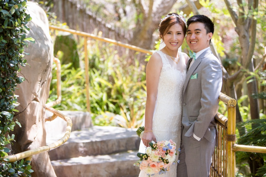 seven degrees wedding laguna beach photographer nicole caldwell first look bamboo garden