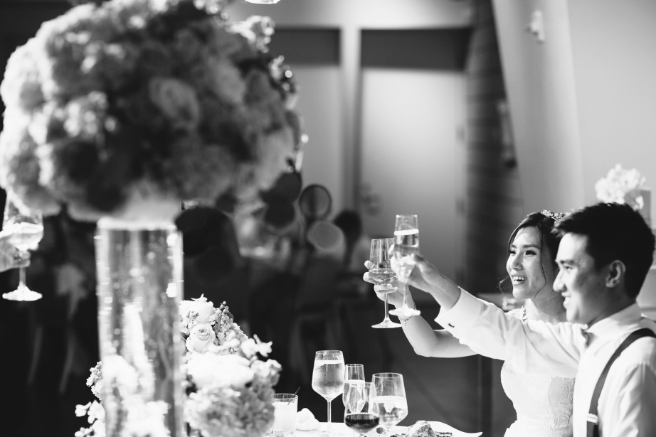 seven degrees wedding laguna beach photographer nicole caldwell reception toasts